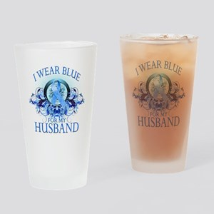 I Wear Blue for my Husband (f Drinking Glass