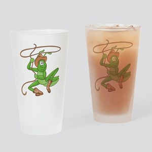 Grasshopper Cowboy Pint Glass