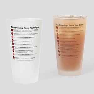 Know Your TSA Rights Pint Glass