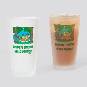 Hello Pension Boomer Drinking Glass