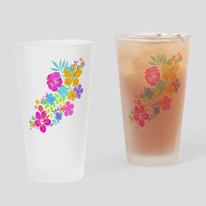 Tropical Flowers Pint Glass