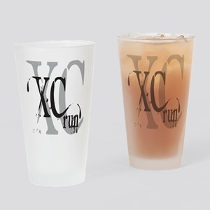 Cross Country XC Drinking Glass