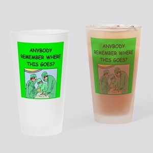 funny surgeon jokes Drinking Glass