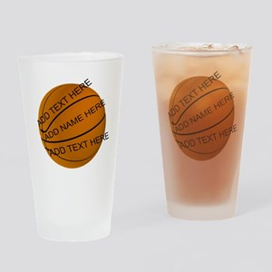 Personalized Basketball Drinking Glass