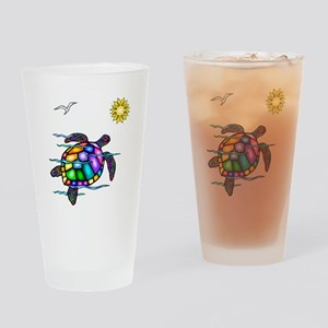 Sea Turtle #1 Drinking Glass