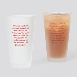 funny math joke Drinking Glass