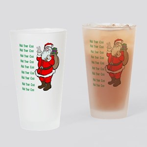 Add Your Own Text Santa Drinking Glass