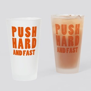 Push Hard And Fast CPR Shirt Drinking Glass