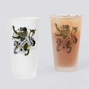 Campbell Tartan Lion Drinking Glass