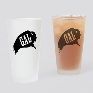 Buffalo Gal Drinking Glass