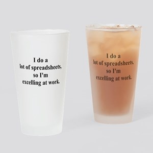 spreadsheet joke Drinking Glass