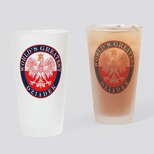 Round World's Greatest Dziadek Drinking Glass