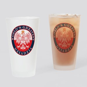 Round World's Greatest Dziadzia Drinking Glass