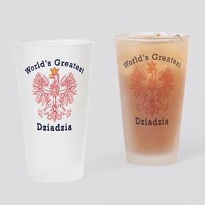 World's Greatest Dziadzia Red Eagle Drinking Glass