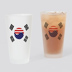 Korean-American Flag Drinking Glass