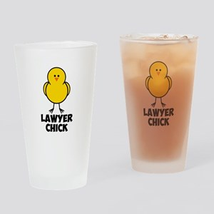 Lawyer Chick Drinking Glass