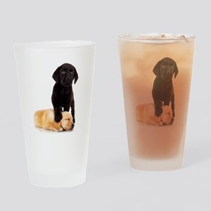 Labrador Playmates Drinking Glass