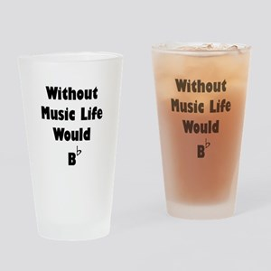 Music B Flat Drinking Glass