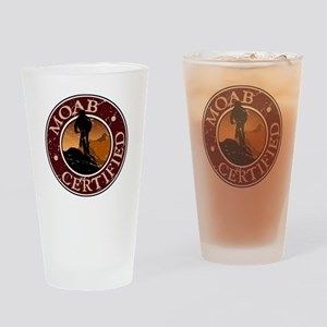 Moab Certified - Mountain Biker Drinking Glass