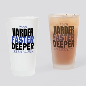 Harder Faster Deeper Drinking Glass