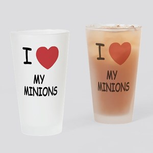 I heart my minions Drinking Glass