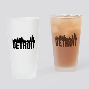 Detroit City Drinking Glass