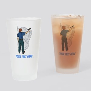 Window Cleaner. Custom Text. Drinking Glass