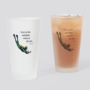 Sea Scuba Diver Drinking Glass