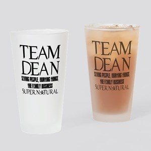 Team Dean Supernatural Winchester Drinking Glass