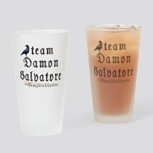 Team Damon Salvatore The Vamp Drinking Glass