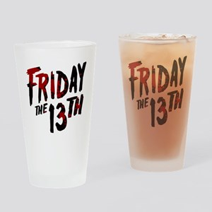 Friday the 13th Logo Drinking Glass