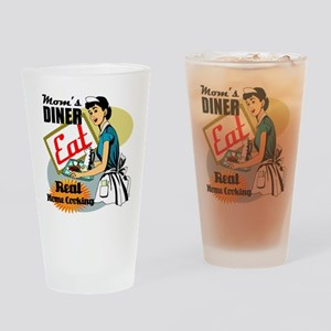 Moms Diner Retro 50's Drinking Glass