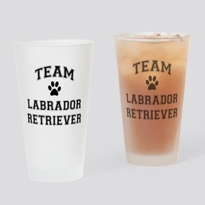 Team Labrador Retriever Drinking Glass