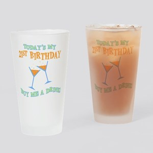 21st Birthday/Buy Me A Drink Pint Glass