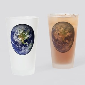 High Resolution EARTH From Space Drinking Glass