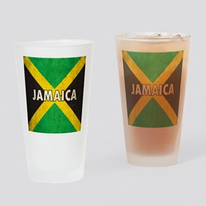 Jamaica Grunge Flag Drinking Glass