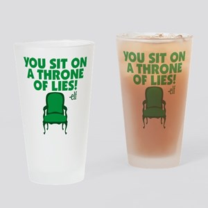 Elf You Sit On A Throne Of Lies Drinking Glass