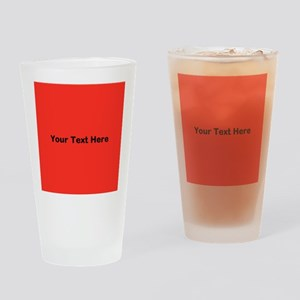 Red Background with Text. Drinking Glass