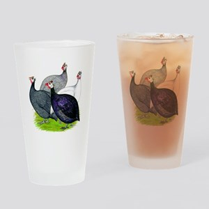 Four Guineafowl Drinking Glass