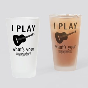 Cool Guitar Designs Drinking Glass