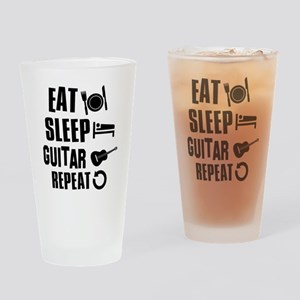 Eat Sleep Guitar Drinking Glass
