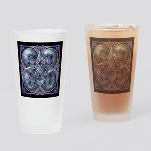 Silver & Purple Celtic Tapestry Drinking Glass