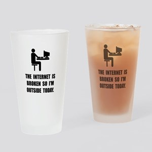Broken Internet Outside Drinking Glass