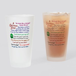 A Christmas Story Quotations Drinking Glass