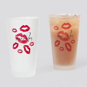 Multiple Smooches Drinking Glass