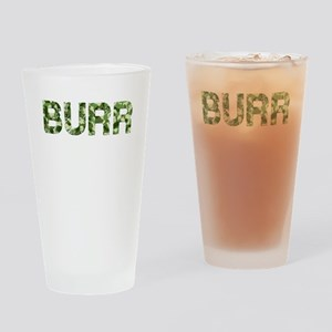 Burr, Vintage Camo, Drinking Glass