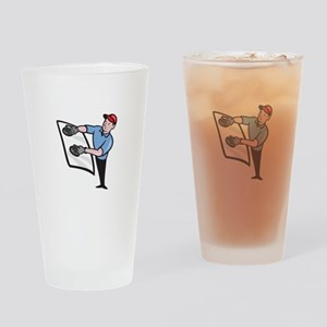 Automotive Glass Installer Drinking Glass