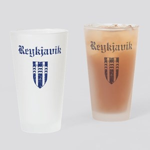 Flag Of Reykjavik Design Drinking Glass