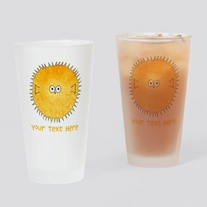 Pufferfish. Add Your Text. Drinking Glass