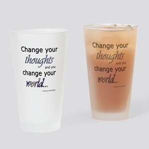 Change Your Thoughts Drinking Glass